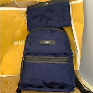 Michael Kors Backpack & travel case wt strap. NWT